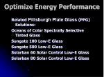 optimize energy performance17