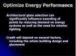 optimize energy performance18