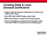 creating state local demand coefficients