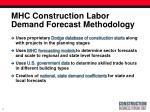 mhc construction labor demand forecast methodology