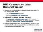 mhc construction labor demand forecast