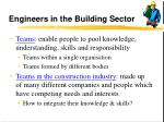 engineers in the building sector12