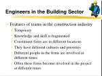engineers in the building sector13