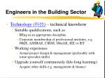 engineers in the building sector16
