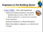 engineers in the building sector17