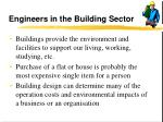 engineers in the building sector26