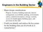 engineers in the building sector29