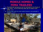 mobile homes fema trailers