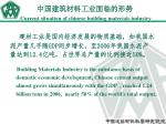 current situation of chinese building materials industry