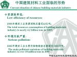 current situation of chinese building materials industry15