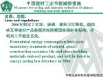 measures for saving and emission reduction of chinese building materials industry17