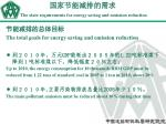 the state requirements for energy saving and emission reduction