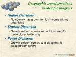 geographic transformations needed for progress