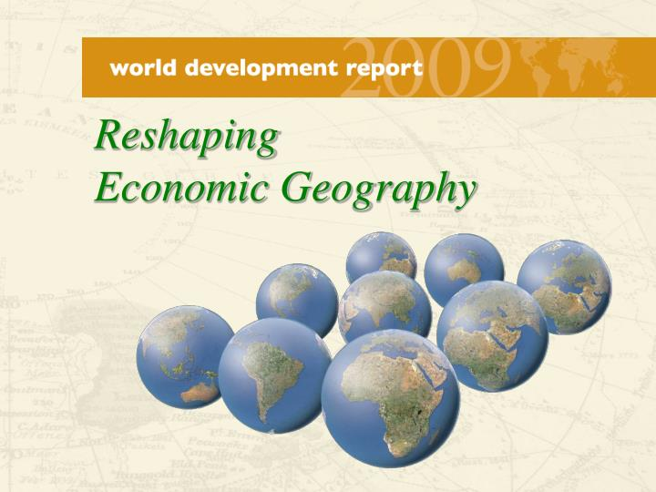reshaping economic geography n.