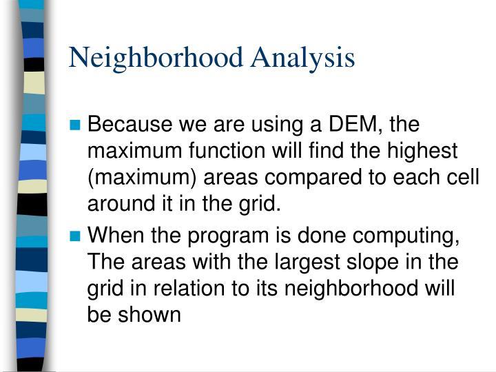 Neighborhood Analysis