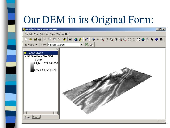 Our DEM in its Original Form: