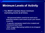 minimum levels of activity