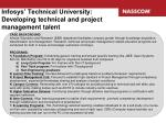 infosys technical university developing technical and project management talent