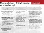 mahindra satyam using innovation as a retention tool