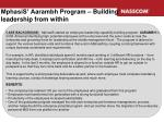 mphasis aarambh program building leadership from within