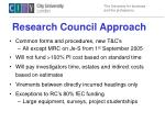 research council approach