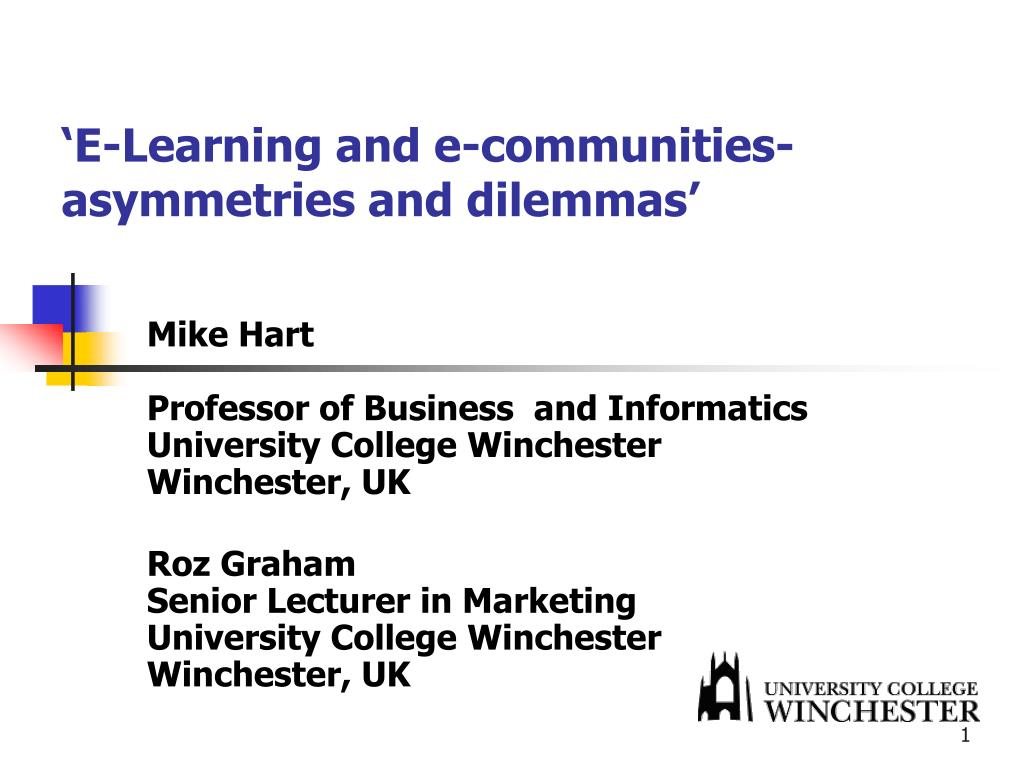 e learning and e communities asymmetries and dilemmas l.