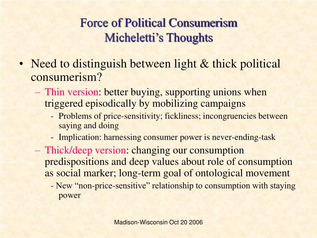 Force of Political Consumerism