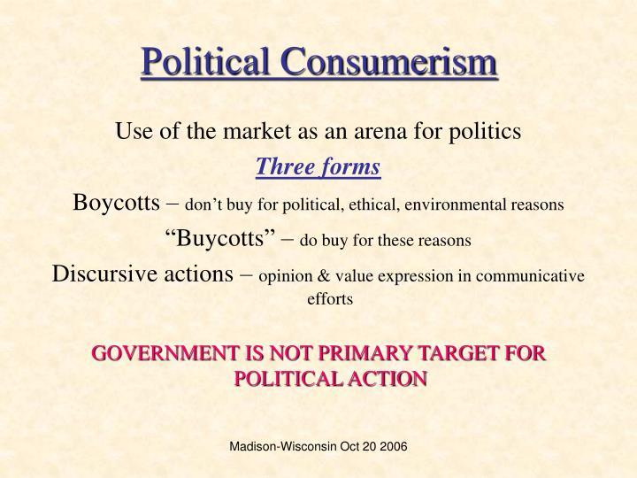 Political consumerism