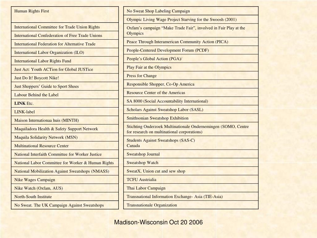 Madison-Wisconsin Oct 20 2006