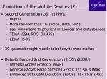 evolution of the mobile devices 2