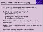 today s mobile reality is changing