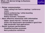 what a 3g device brings to business customers