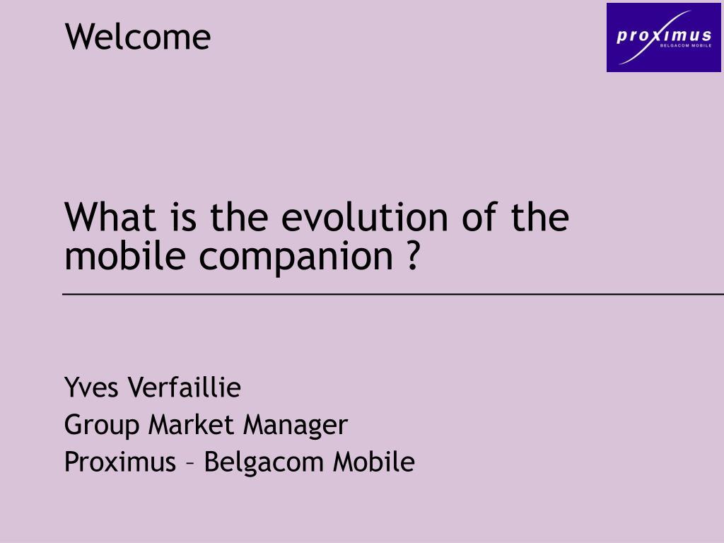 what is the evolution of the mobile companion l.