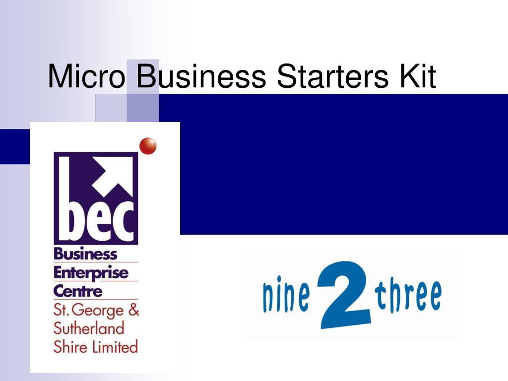 micro business starters kit l.