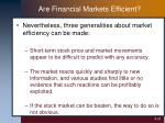 are financial markets efficient