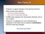 dow theory iii