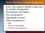 market efficiency portfolio management