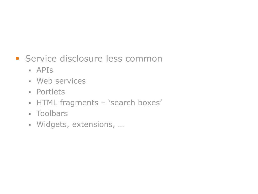 Service disclosure less common
