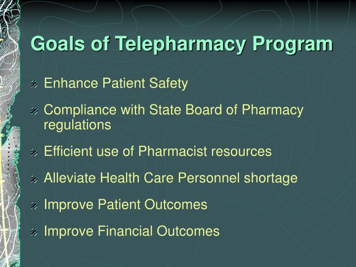 Goals of Telepharmacy Program