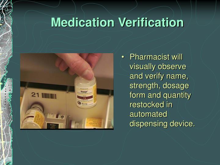 Medication Verification