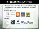 blogging software services