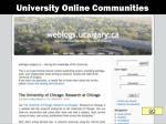 university online communities