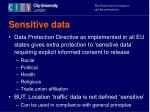 sensitive data