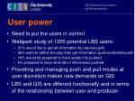 user power