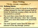 diary writing write reread remember6