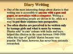 diary writing11