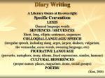diary writing23