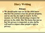 diary writing43