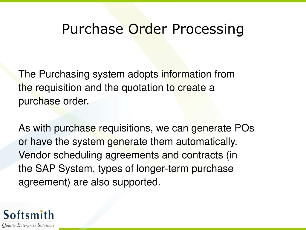 Purchase Order Processing