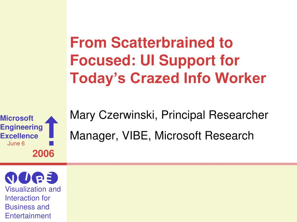 from scatterbrained to focused ui support for today s crazed info worker l.